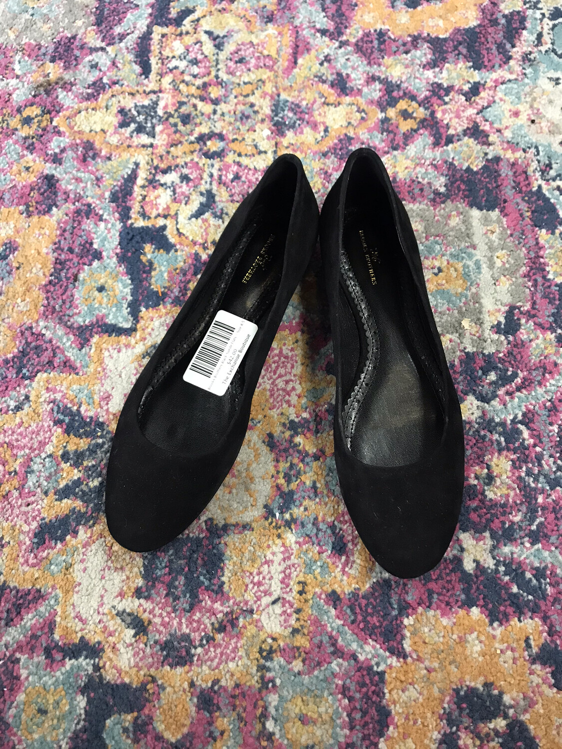 Brooks Brothers Black Suede Flats - Size 8.5