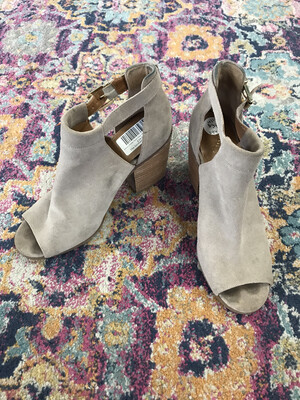 Arturo Chiang Taupe Peep Toe Shoes - Size 10