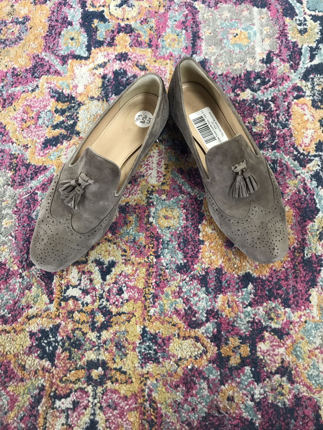 J.Crew Taupe Suede Flats - Size 9.5