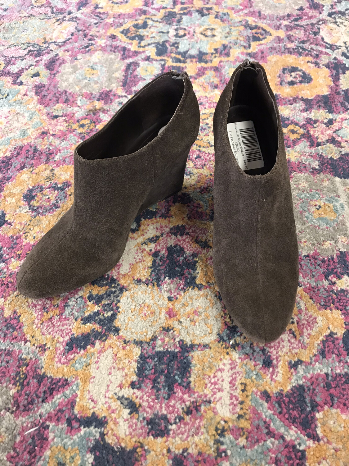 Naturalizer Brown Wedges - Size 10