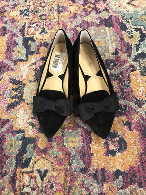 Adrienne Cittadini Black Shoes with Bows - Size 9