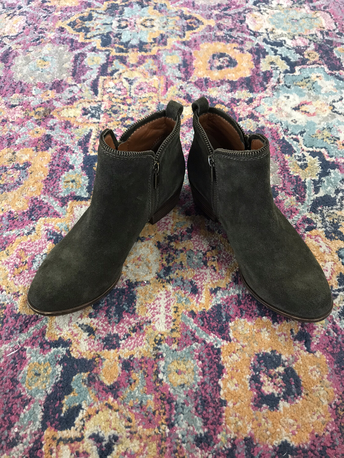Lucky Brand Green Leather Boots - Size 8.5
