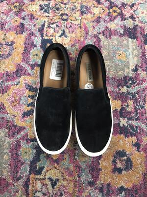 Steve Madden Black Suede Slip Ons - Size 9.5