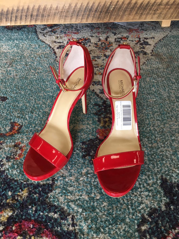 Michael Kors Red Peep Toe Heels - Size 9.5