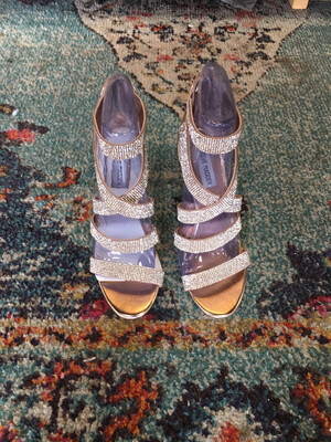 Steve Madden Rose Gold Stappy Heels - Size 8.5