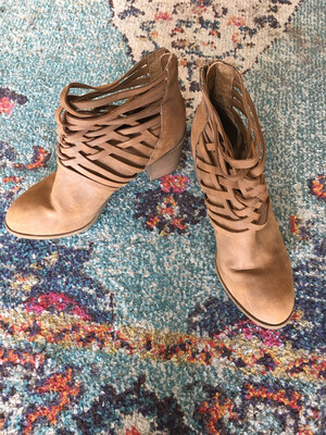 Tan Ankle Boots - Size 11