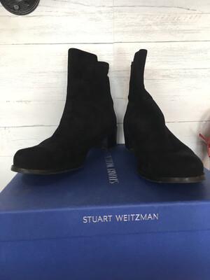 Stuart Weitzman Black Suede Boots - Size 10