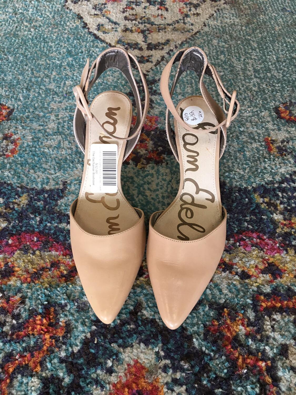 Sam Edelman Tan Leather Ankle Strap Heel - Size 8