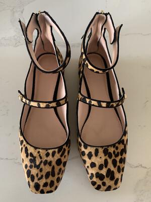 J. Crew Leopard Ankle Strap Flats - Size 9.5