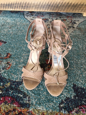 Vince Nude Lace Up Heels - Size 8