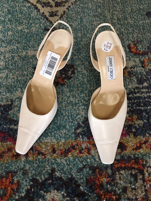 Jimmy Choo Cream heels - Size 8.5