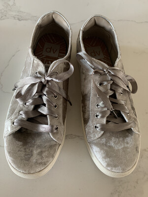 DV by Dolce Vita - Grey Velvet Sneakers - Size 8.5