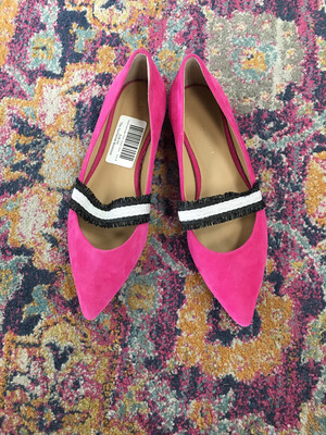 Anthropologie Pink Suede Shoe - Size 8