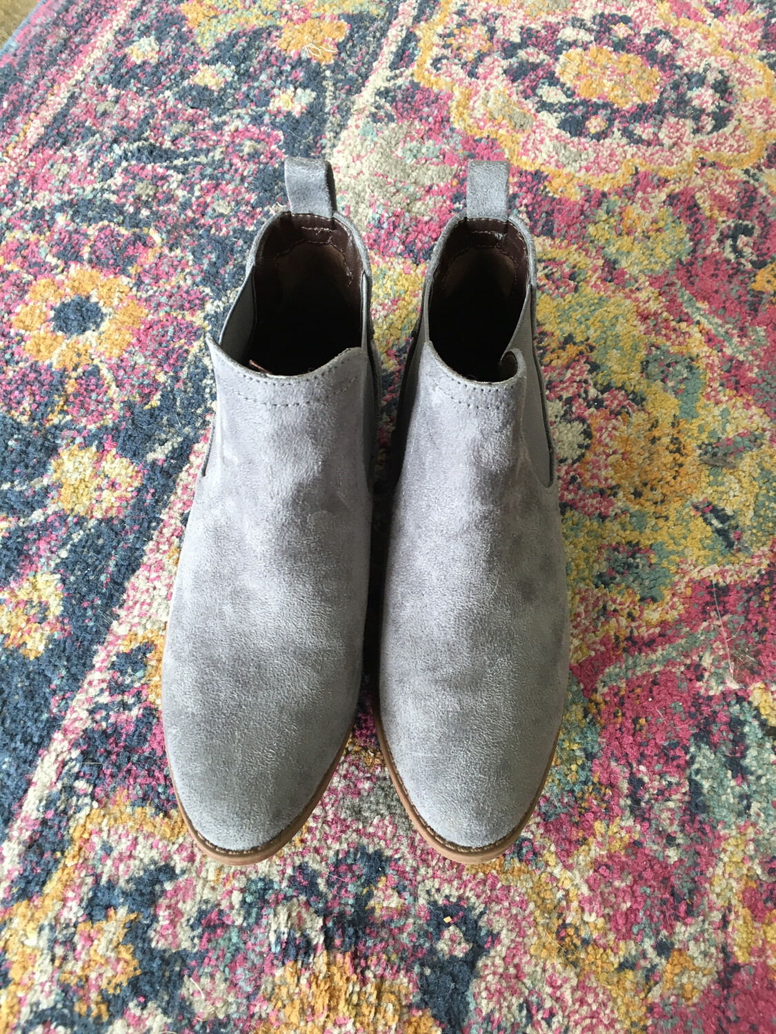 Qupid Grey Booties - Size 7.5