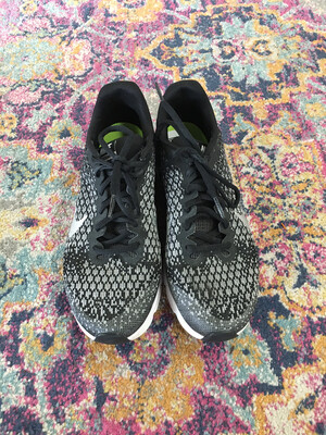 Nike Black and Silver Airmax Sneakers - Size 7