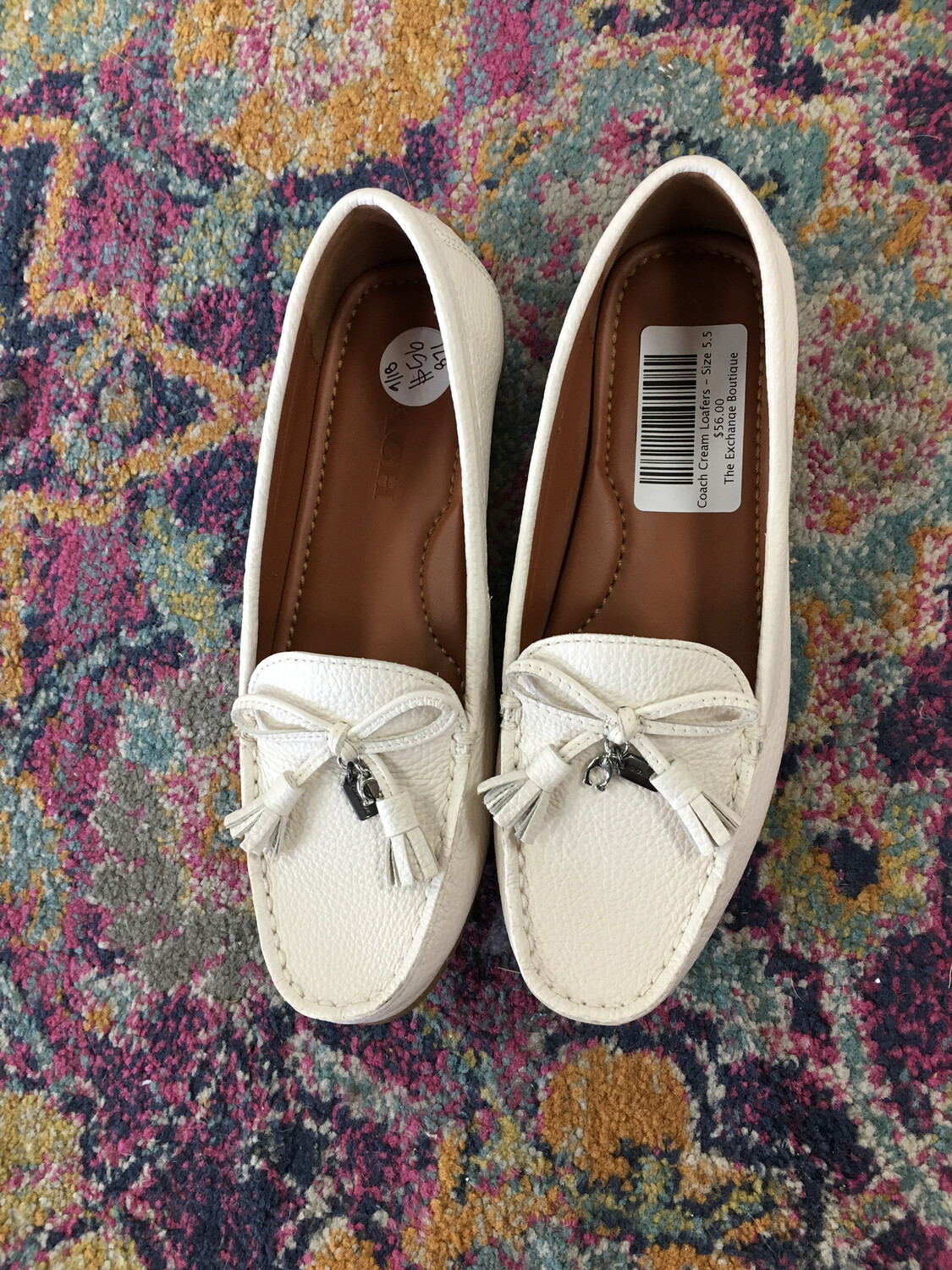 Coach Cream Loafers - Size 5.5