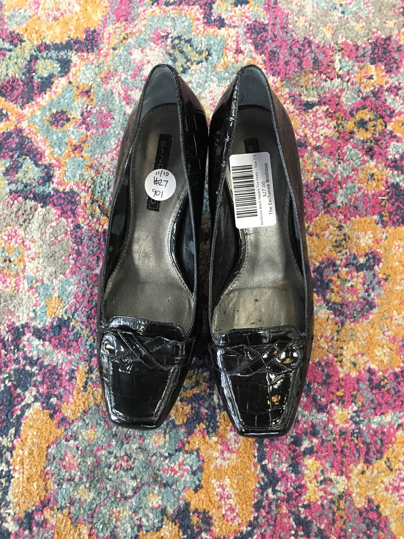 Bandoino Black Square Toe Heels - Size 7.5