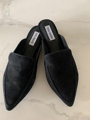 Steve Madden Black Suede Mule Slides - Size 8.5