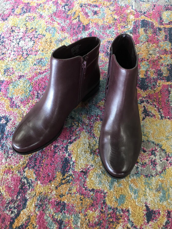 Alfani Brown Booties Silver Buckle - Size 7.5