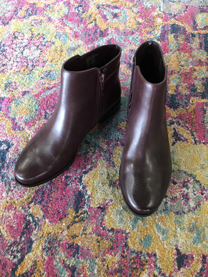 Alfani Brown Booties Silver Buckle - Size 7.5