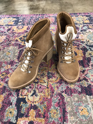 Dolce Vita Tan Lace Up Heel Boot - Size 10.5