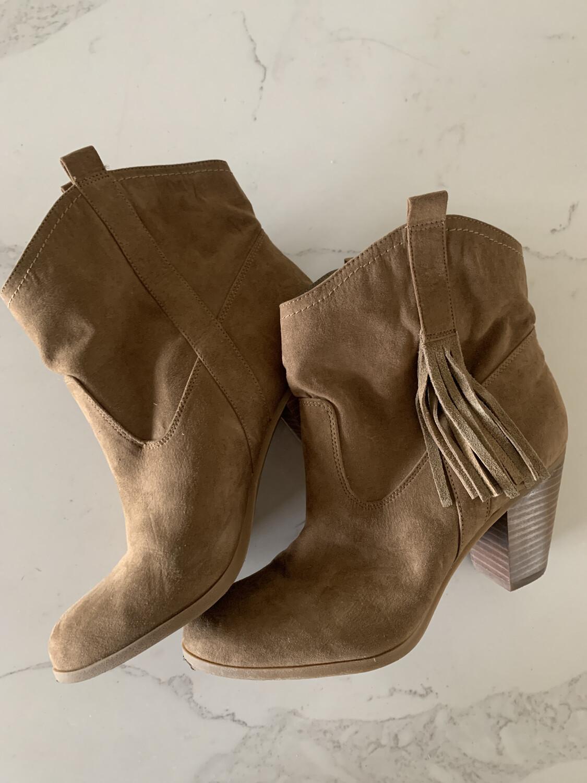 Nine West Tan Fringe Boots - Size 9
