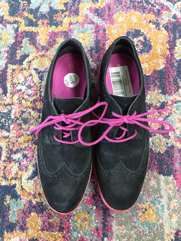 Cole Haan Black & Magenta Oxfords - Size 6