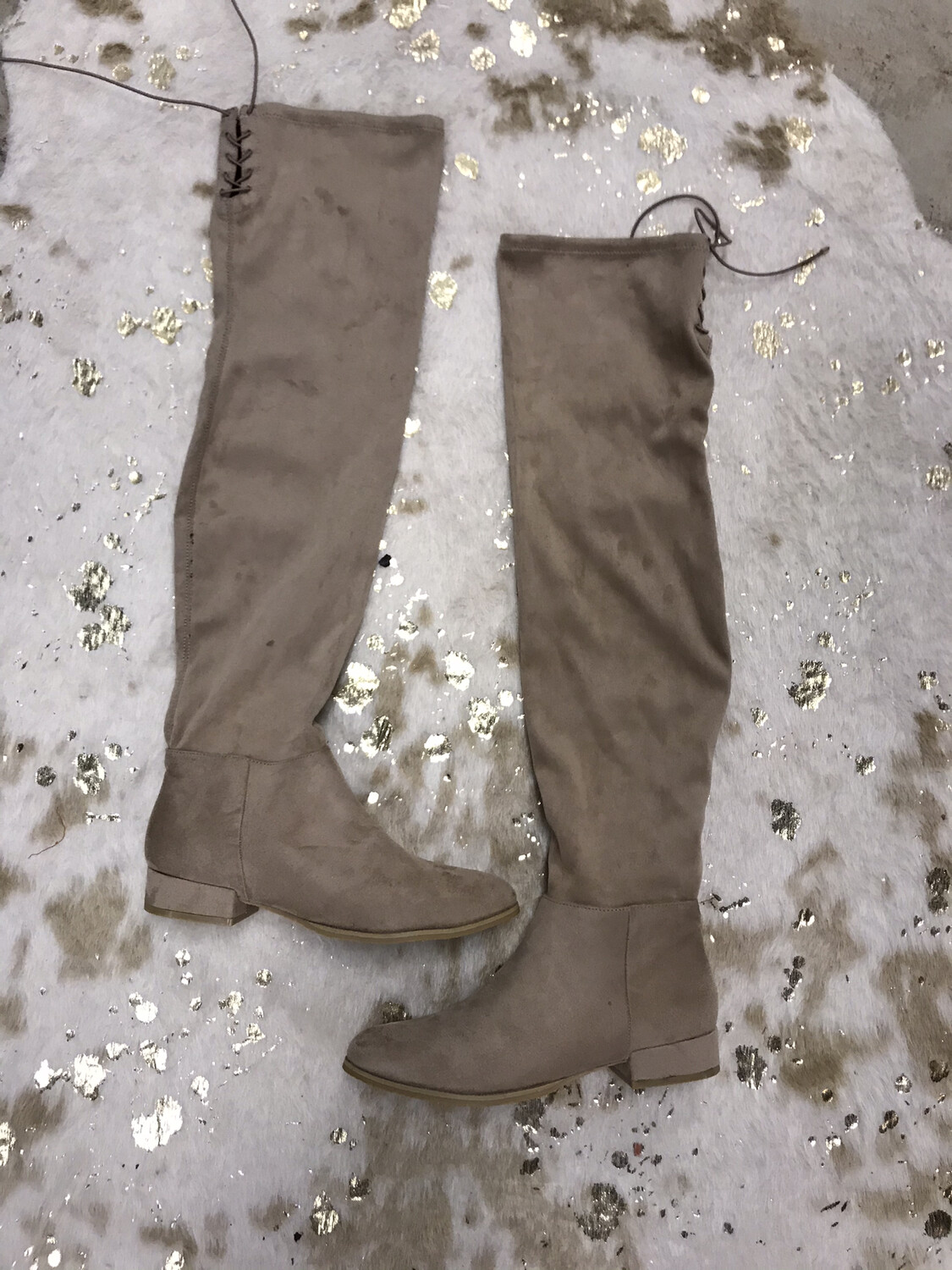 Chinese Laundry Tan Felt High Boot - Size 10