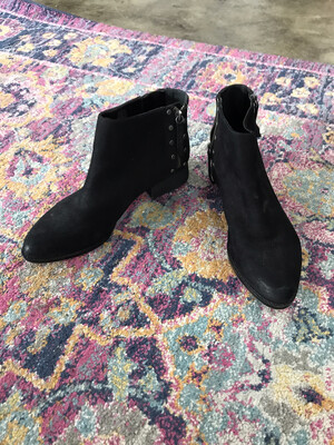 Vince Camuto Black Booties with Silver Studs - Size 10
