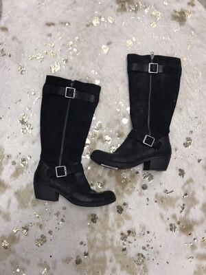Korks Black Suede Boots - Size 9