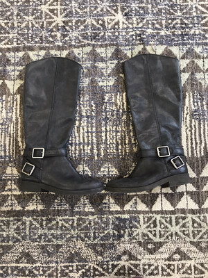 Lucky Brand Black Leather Boots - Size 6