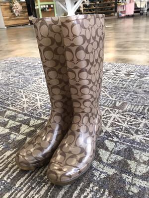 Coach Rain Boots - Size 10