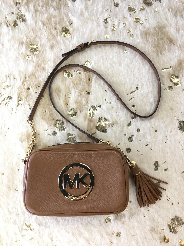 Michael Kors Brown Leather MK Crossbody