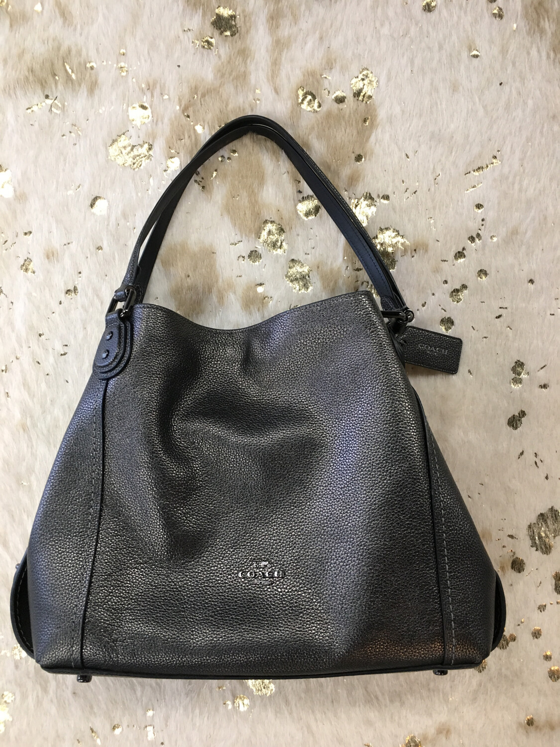 Coach Pewter Shimmer Purse