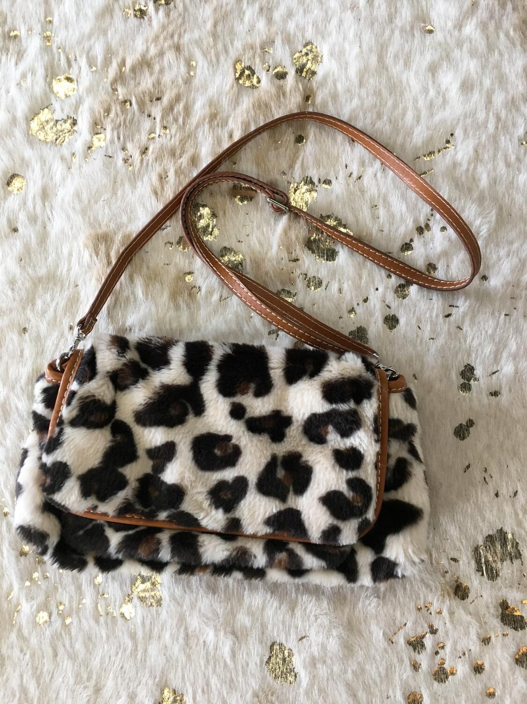 Sonia Leopard Fur Purse