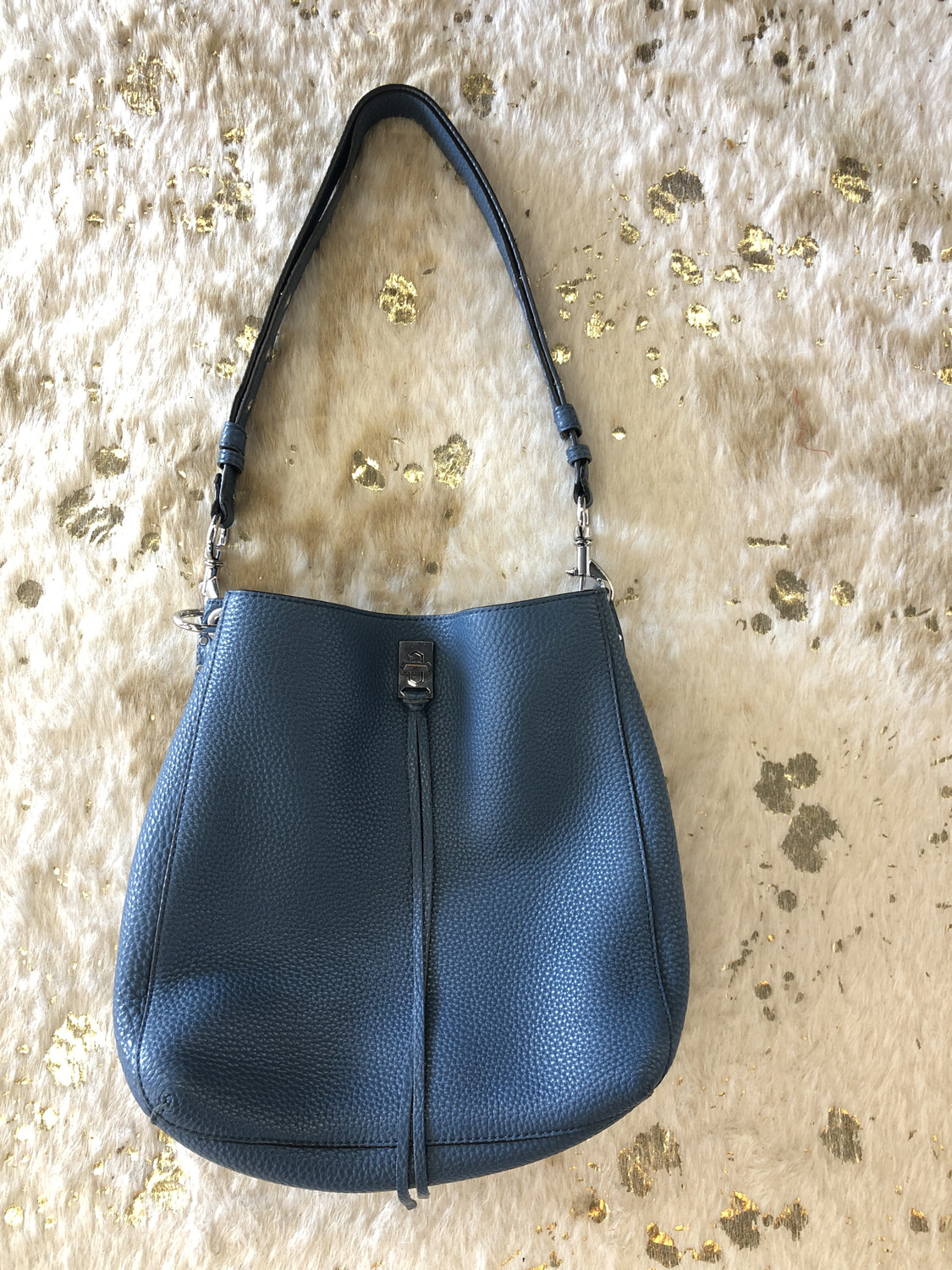 Rebecca Minkoff Blue Studded Shoulder Bag