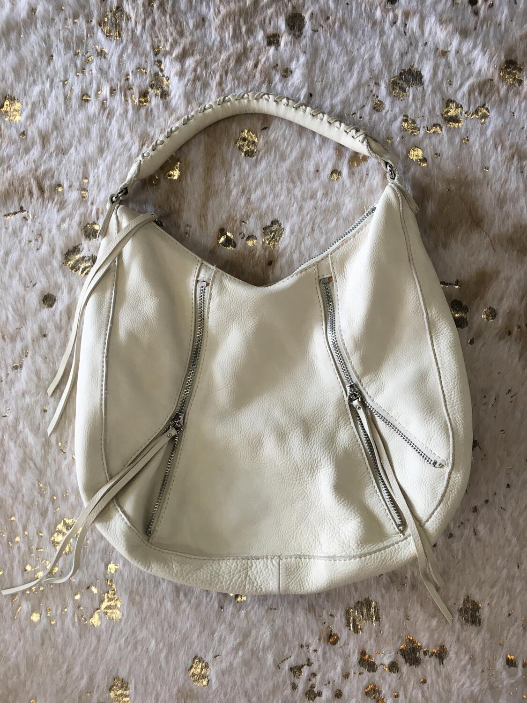Linea Pelle Cream Shoulder Bag