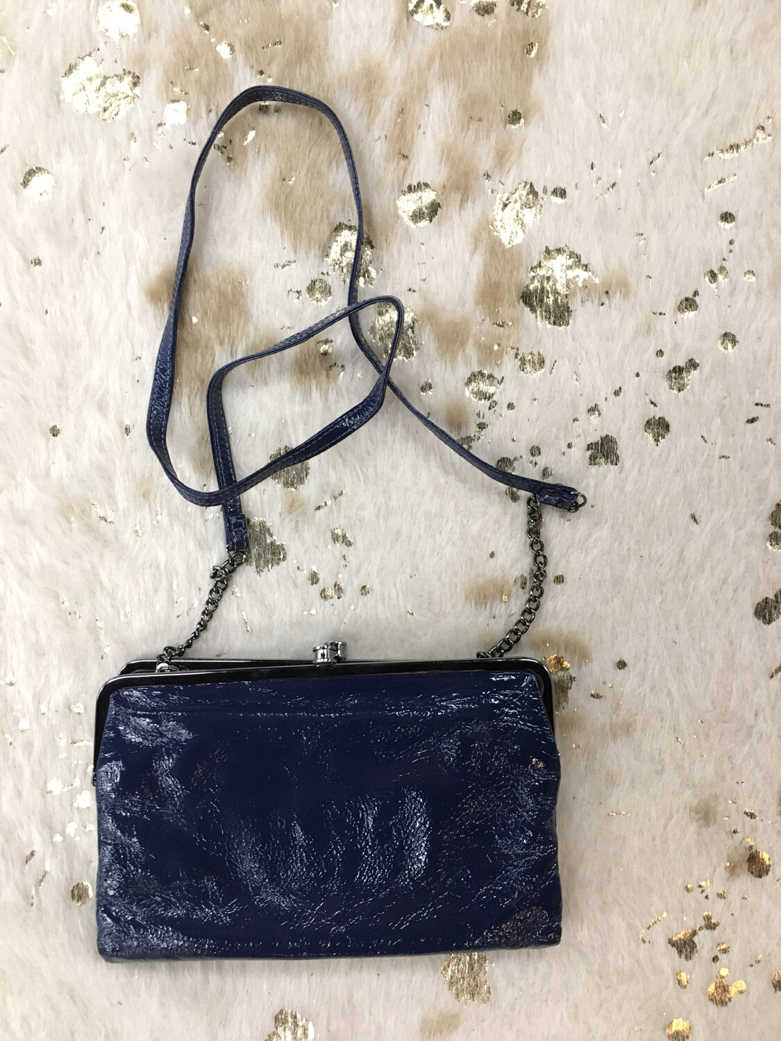 HOBO Blue Clutch Wallet with Strap