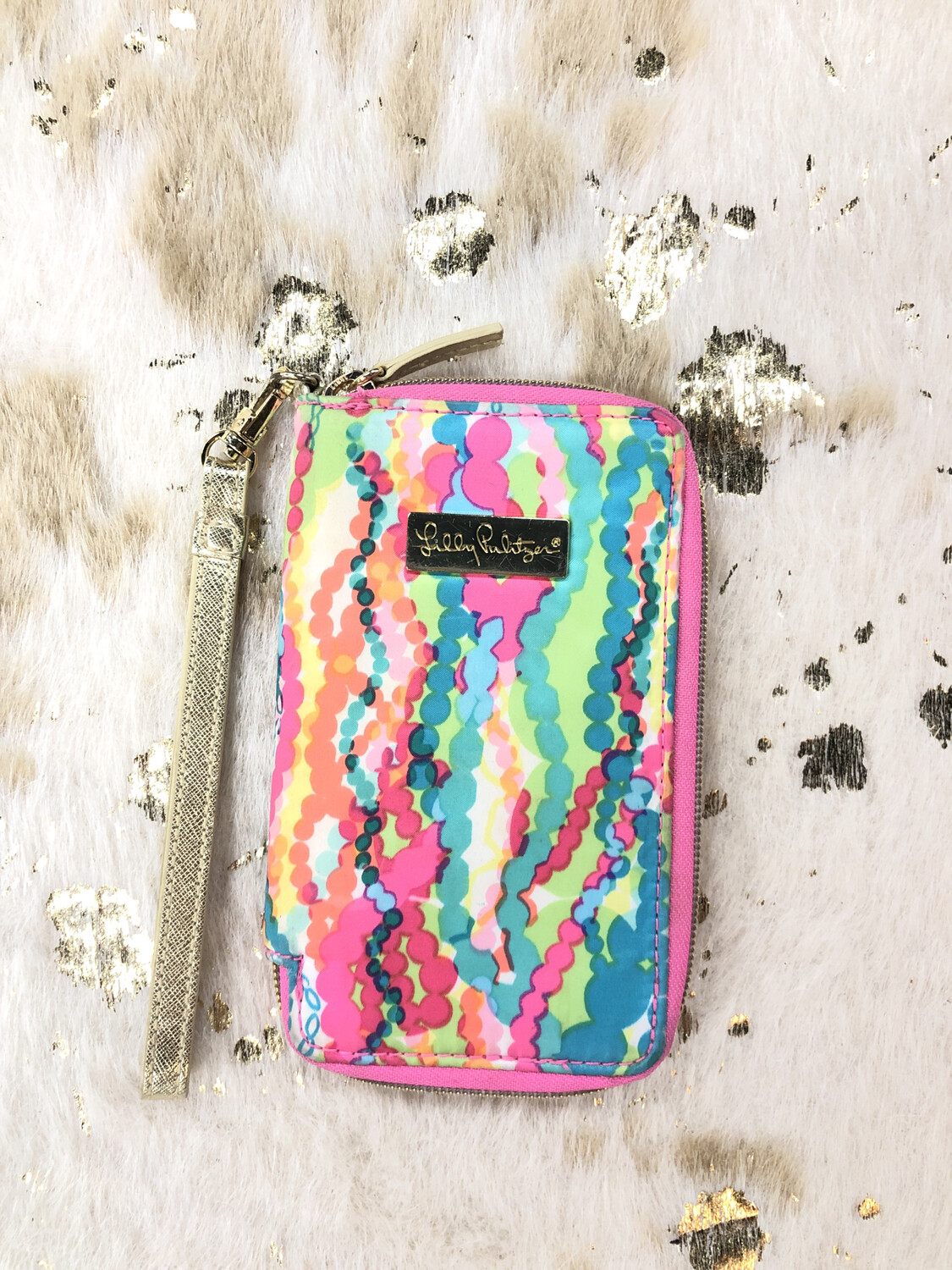 Lilly Pulitzer Colorful Bright Wallet Wristlet
