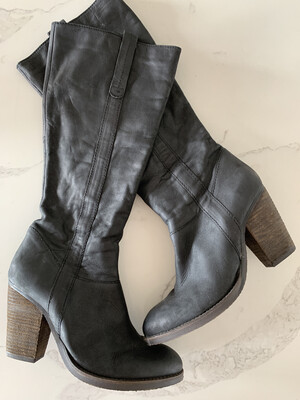 Steve Madden Black Tall Boots - Size 10