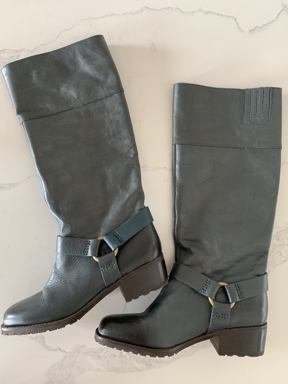 Lucky Brand Green Tall Boots - Size 9.5