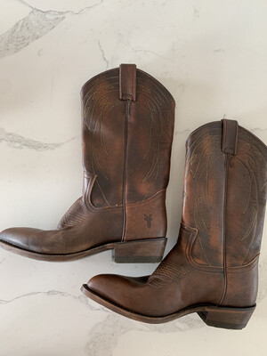 Frye Brown Tall Cowgirl Boots - Size 9