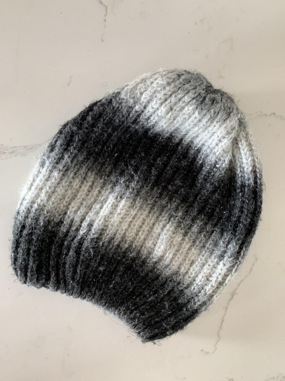 Black & White Striped Beanie