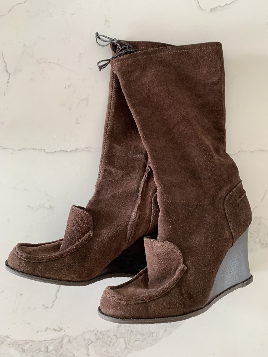 BCBGirls Brown Tall Suede Boots - Size 9.5