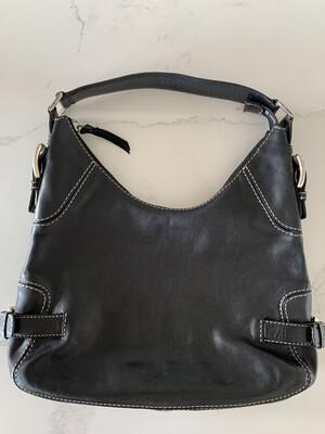 Michael Kors Black Leather Handbag w/ Silver Hardware