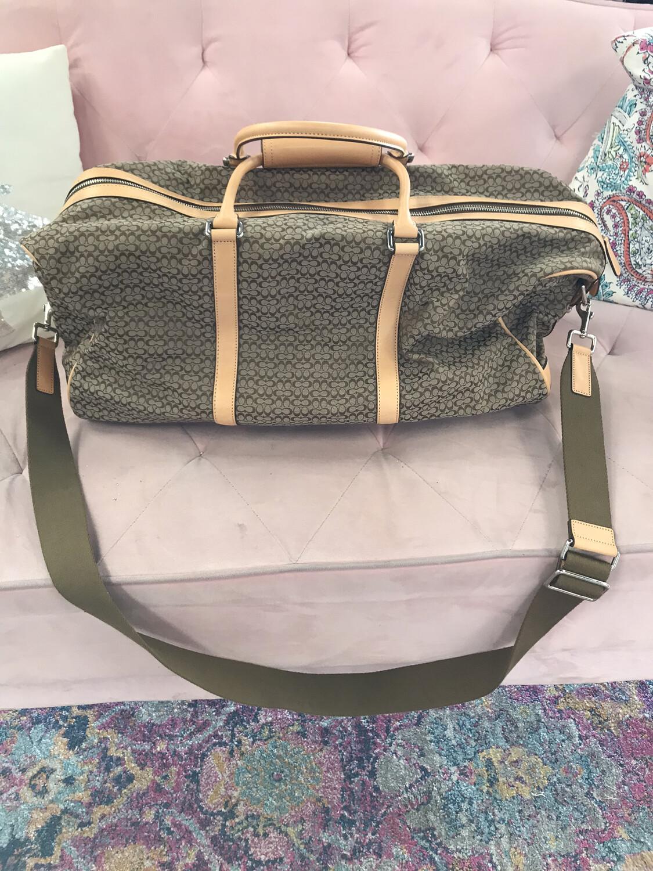 Coach Canvas Duffle Bag