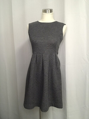 Loft Gray Quilted Dress - Size 0
