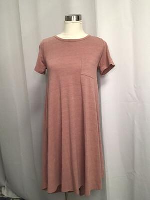 LuLaRoe Dusty Rose T-Shirt Dress - XXS