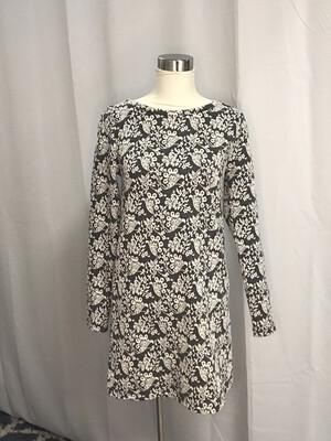 Loft Gray & White Dress - XS