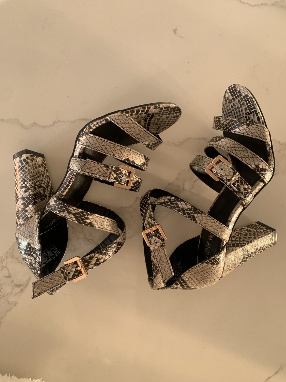 Nine West Snakeskin Sandal Heels - Size 6.5